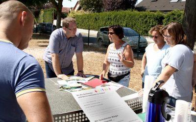 Ortstermin mit der Elterninitiative zum Erhalt der Spielplätze in Geinsheim